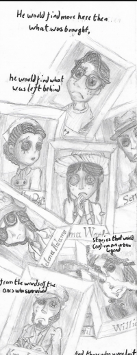 A Collage I Sketched of Survivor Portraits